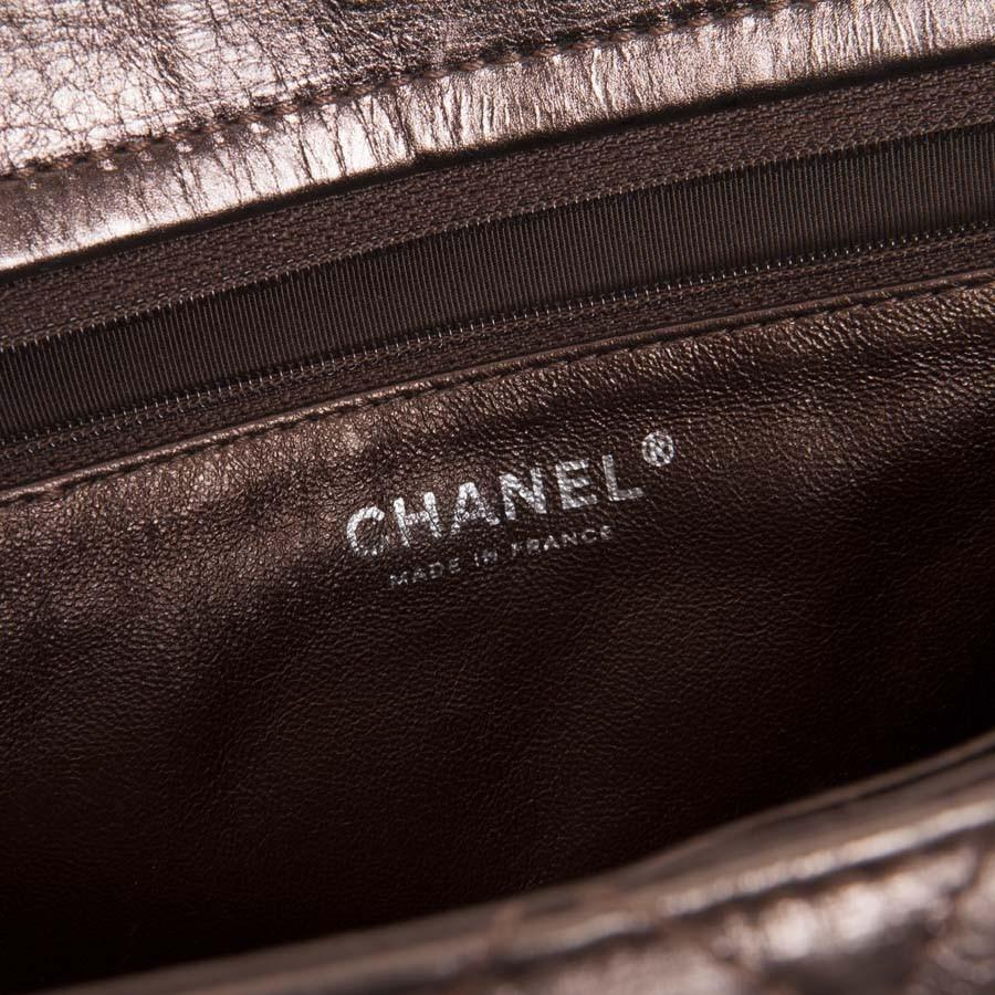 aba079619a3d Lyst - Chanel Tote Bag In Glossy Brown Shiny Quilted Leather in Brown