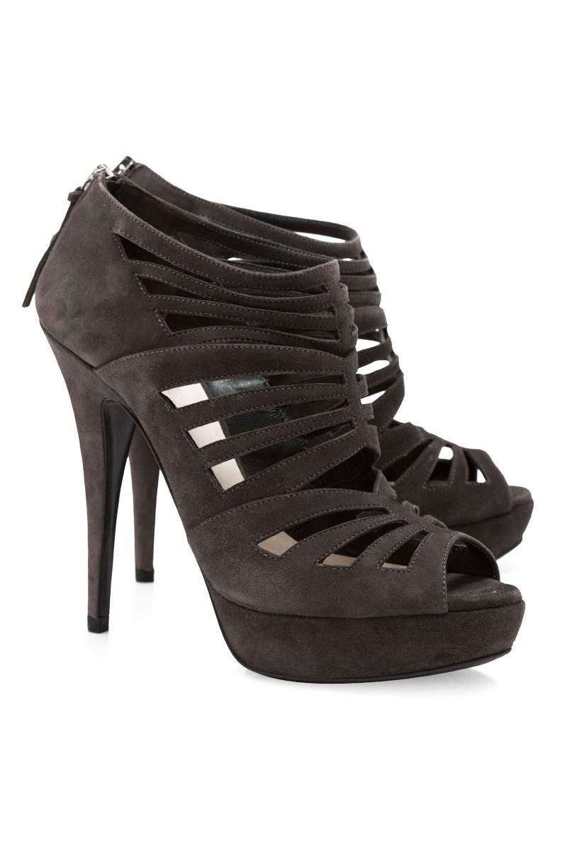 63a85c60133a Lyst - Miu Miu Pre-owned Suede Sandal Heels in Black