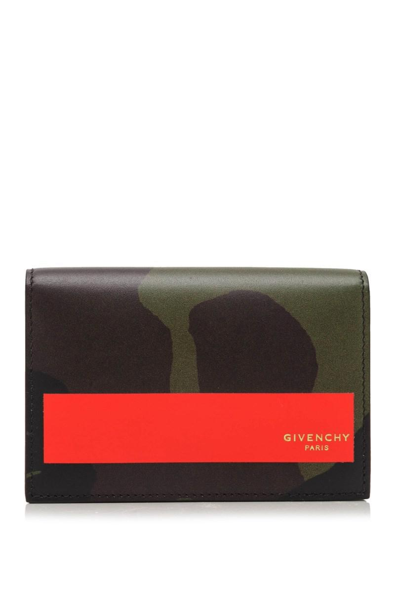 Lyst - Givenchy Camouflage Print Business Card Case in Green