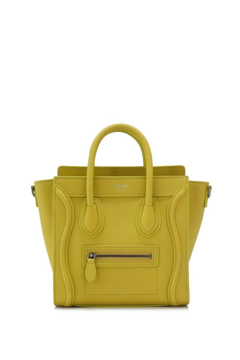 73a43b9c92 Lyst - Céline Céline Nano Luggage in Yellow
