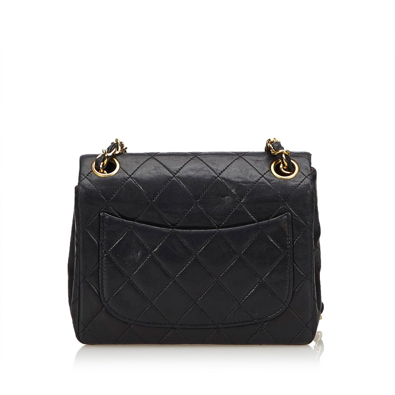 bf0ceb36c74b2 Chanel Black Caviar Classic Mini Flap Bag