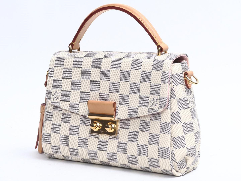 822b28d90352 Lyst - Louis Vuitton Croisette 2way Hand Shoulder Bag Damier Azur ...