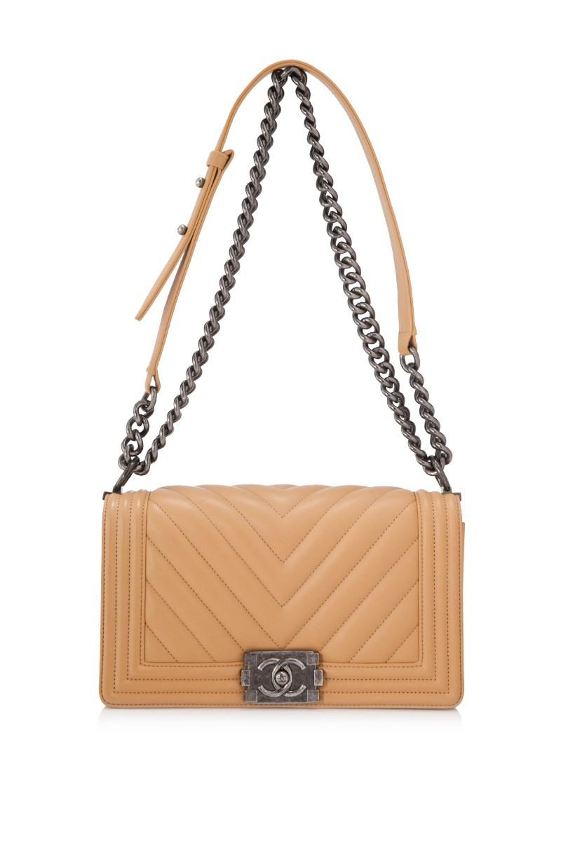 aa6b6d52d3a099 Lyst - Chanel Pre-owned Boy Flap Bag in Brown