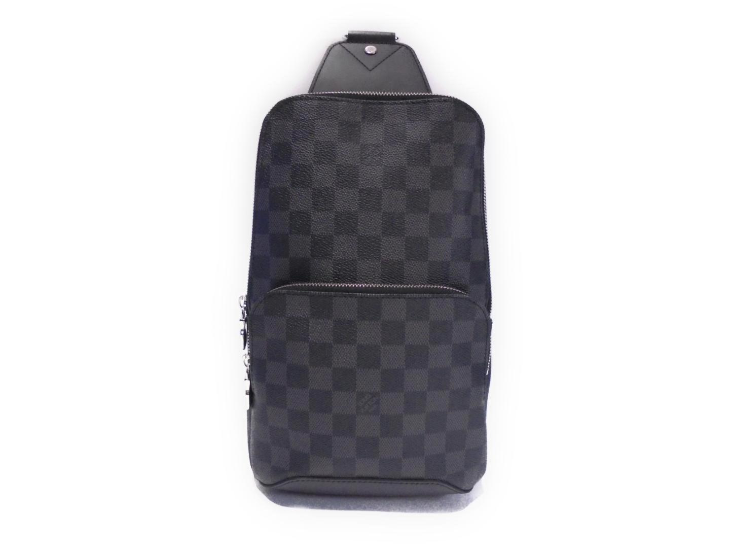 adf86cc0c4f9 Lyst - Louis Vuitton Avenue Sling Bag Cross Body Damier Graphite ...