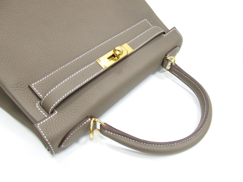f59b080c706f Lyst - Hermès Kelly 28 Handbag 2way Shoulderbag Togo Leather Etoupe ...