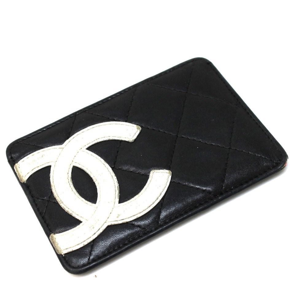 Lyst Chanel Cambon Line Business Card Holder Blackwhite Calf