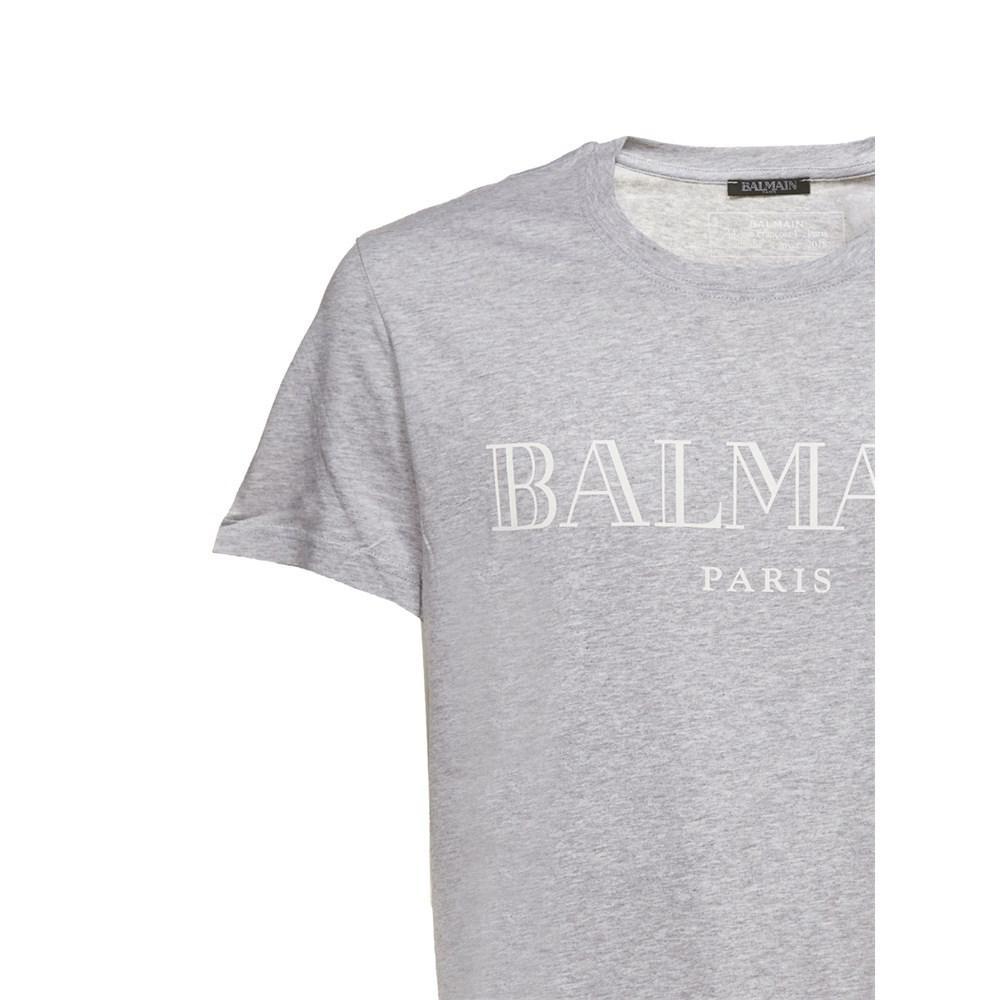 922884389 Lyst - Balmain Polos & T-shirts Grigio Bianco in Gray for Men