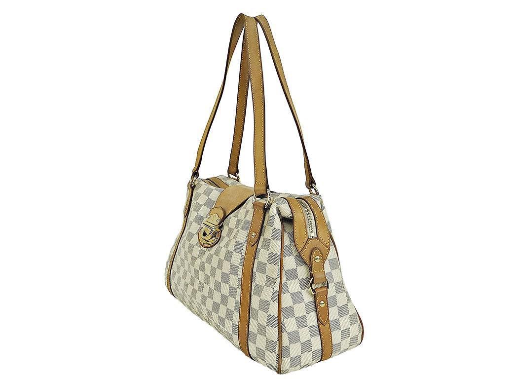 0a3e75fbd6 Louis Vuitton Shoulder Bag Stresa Pm Damier Azur Canvas N42220 Used ...
