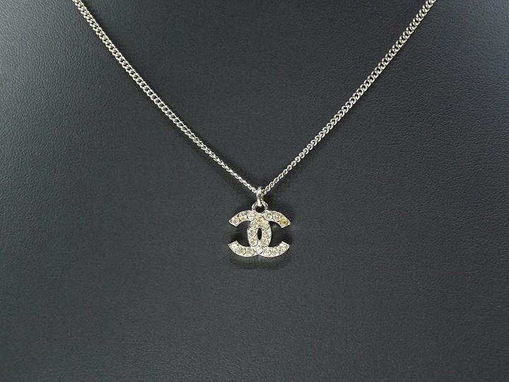 Lyst - Chanel Coco Mark Silver Necklace Women in Metallic 4370b251e2
