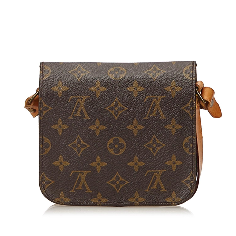 6f6589e225f6 Lyst - Louis Vuitton Monogram Cartouchiere Pm in Brown