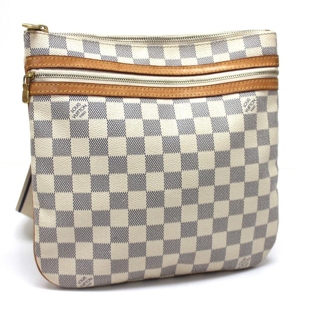 15dabb373b67 ... Lyst Louis Vuitton Damier Azur Pochette Bosphore Crossbody Men s  Gallery Source · LOUIS VUITTON Totally PM Tote Shoulder Bag N41280 Damier  Azur canvas