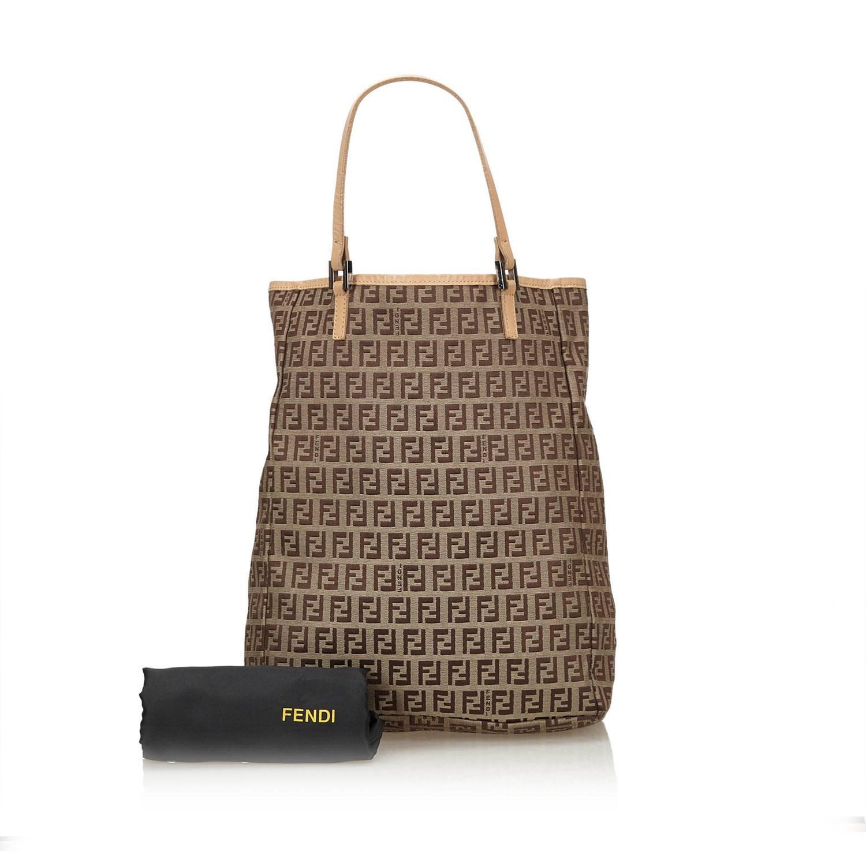 Lyst - Fendi Zucchino Jacquard Tote Bag in Brown 95aa793e10046