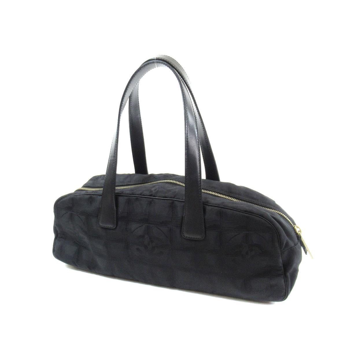 624de3315346 Lyst - Chanel Nylon Jacquard Handbag New Travel Line in Black