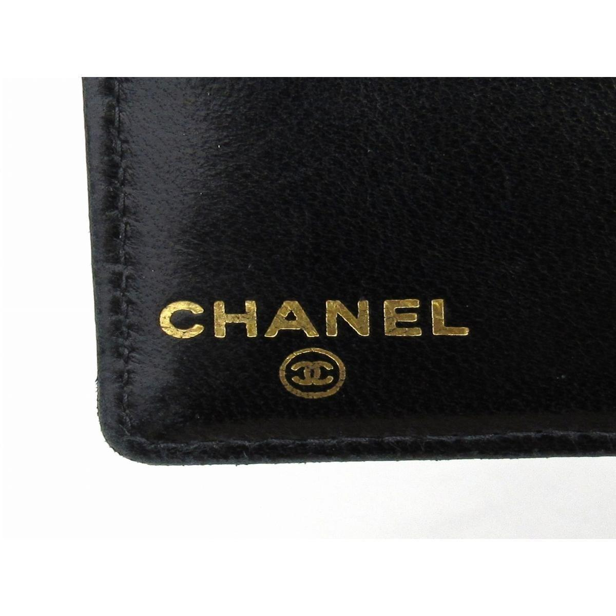 8fc005e5d6cd47 Chanel Auth Cc Bi-fold Long Wallet Purse Caviar Skin Leather Black Used  Vintage in Black - Lyst