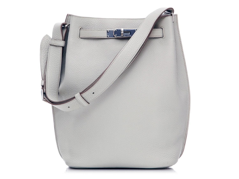 635f608c8953 Lyst - Hermès So Kelly Shoulder Bag Togo Leather Pearl Grey in Gray