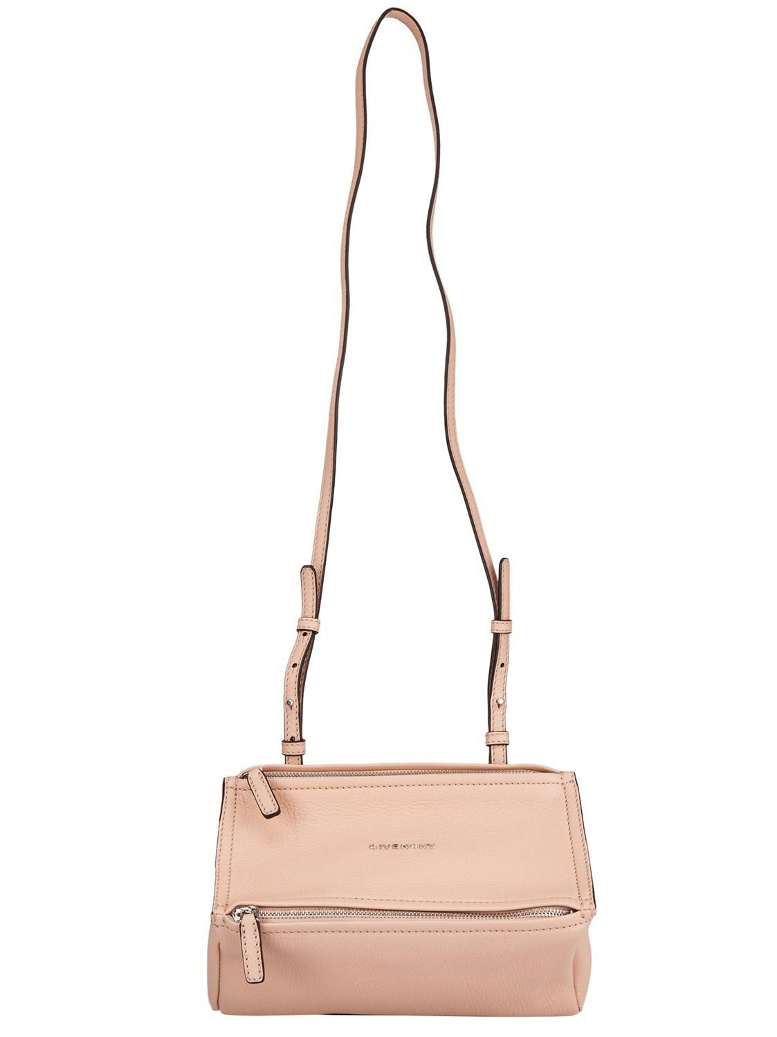 Lyst - Givenchy Pink Mini Pandora Shoulder Bag In Goatskin With ... ff49d1bb55a15