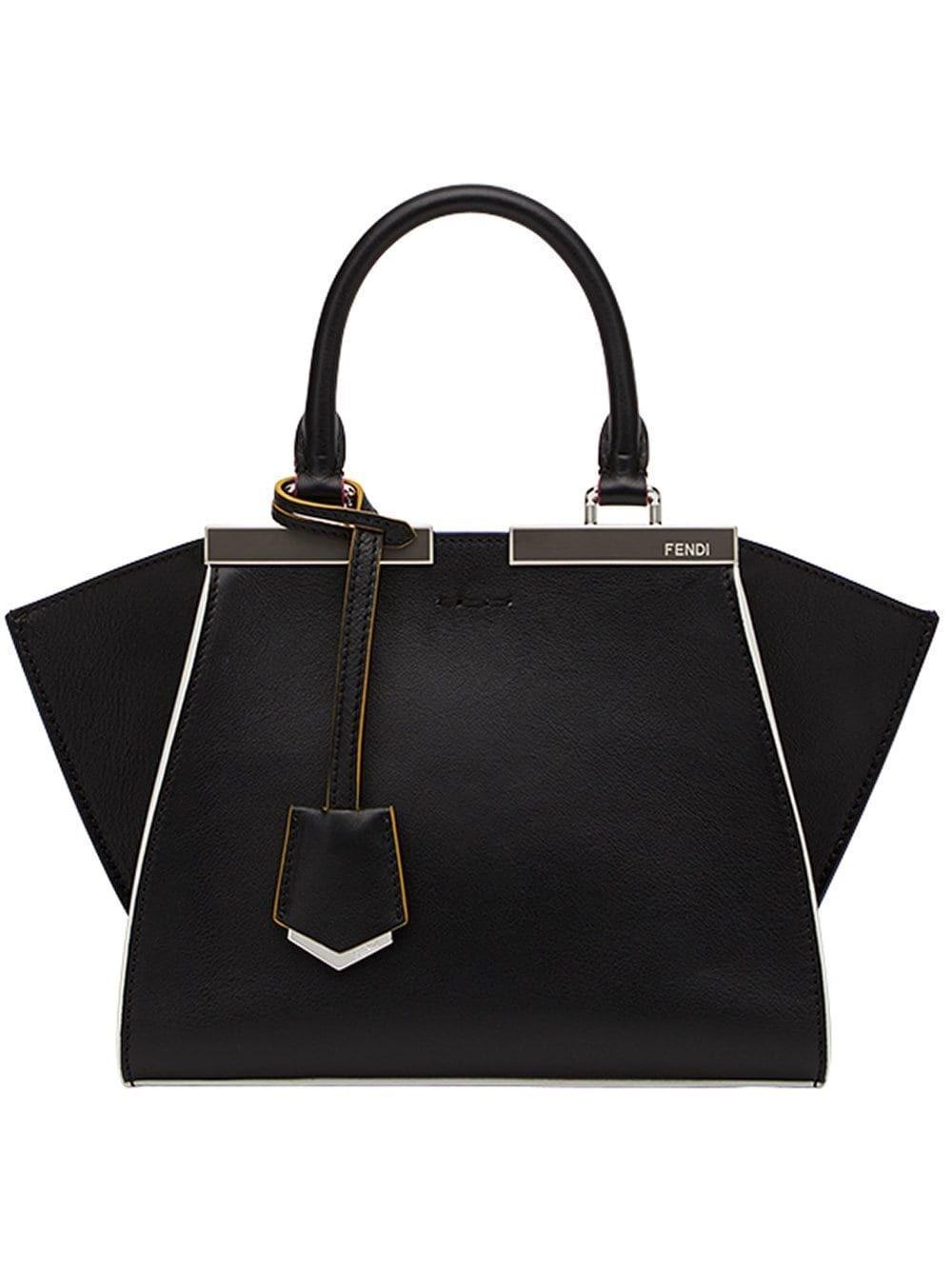 a877020b Lyst - Fendi Women's 8bh3335c3f0gxn Black Leather Handbag in Black