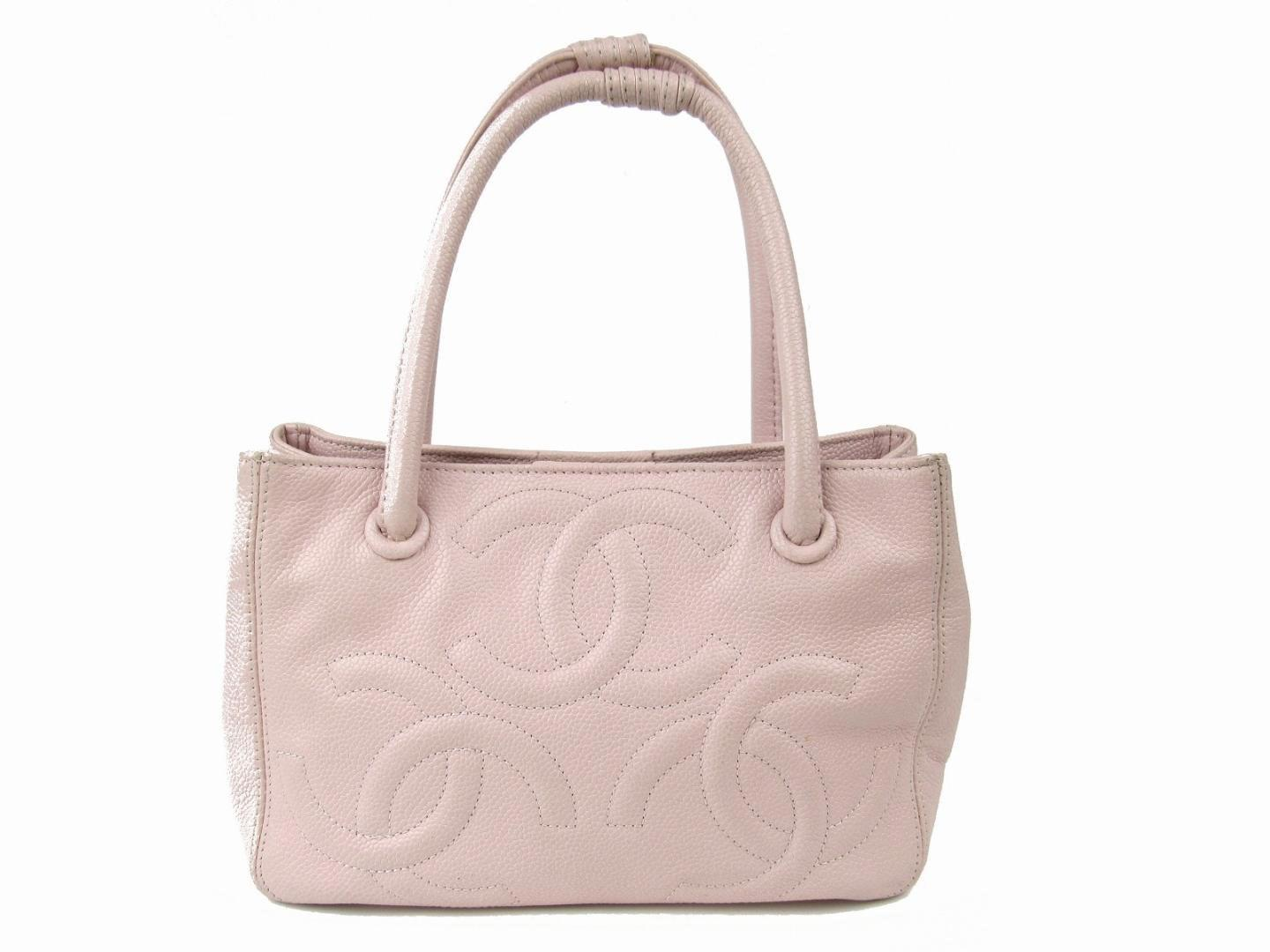 16b6b35cfc26 Lyst Chanel Tote Bag Quilted Caviar Leather Light Pink In