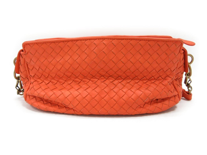 0a4ded8bea Lyst - Bottega Veneta Intrecciato Shoulderbag Orange Leather 192661 ...