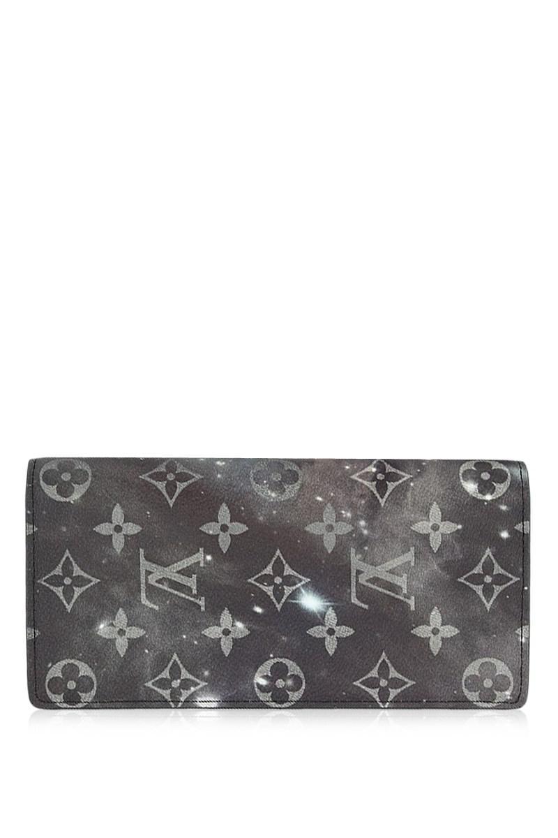 844bf919376b Lyst - Louis Vuitton Brazza Wallet Monogram Galaxy Black Bifold Long ...