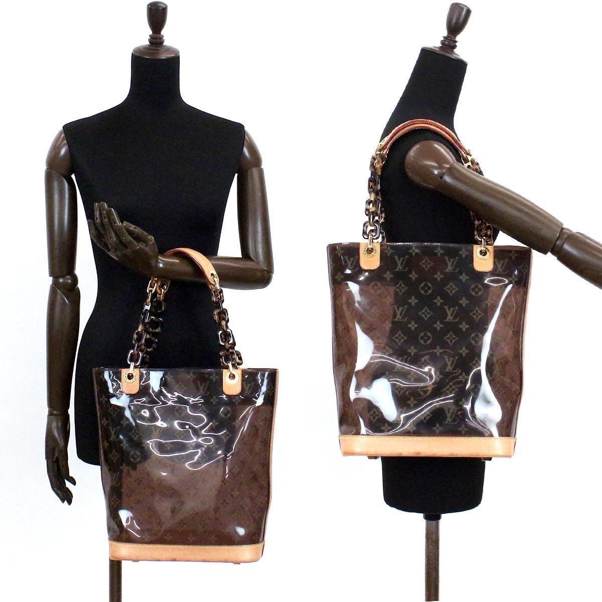 6c2ac1a7ae6b Lyst - Louis Vuitton Monogram Cabas Ambre Mm Tote Bag Vinyl Brown ...