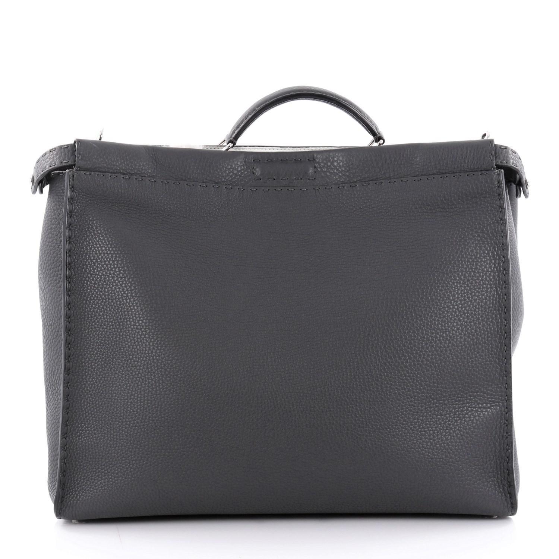 ee19108a7f Lyst - Fendi Peekaboo Monster Handbag Mixed Media Large in Gray