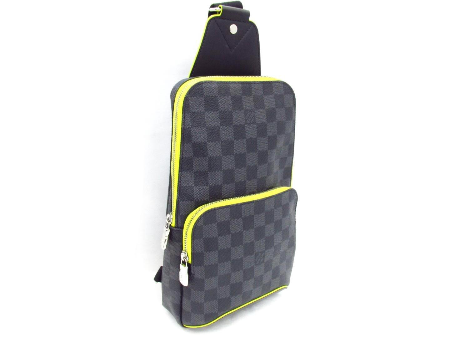 6ade25929 Louis Vuitton Avenue Sling Body Bag N42424 Damier Graphite/leather ...
