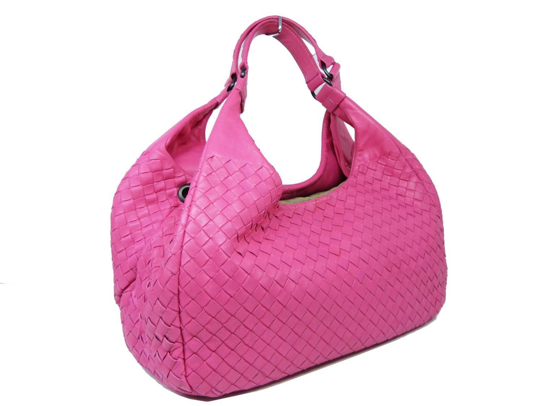 5ac022e2f585 Bottega Veneta - Auth Intrecciato Shoulder Handbag Pink Leather Used Vintage  for Men - Lyst. View fullscreen