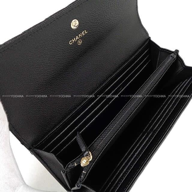 88f8bde49976 Chanel 2019 Ginza Limted Big Chevron Stitch Flap Long Wallet Black ...