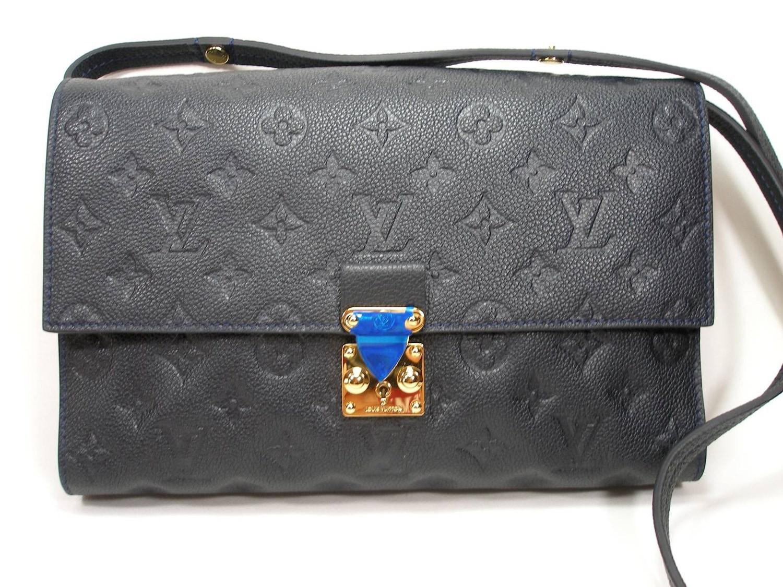 71550fe58175 Lyst - Louis Vuitton Monogram Empreinte Fascinante Shoulder Bag Blue ...