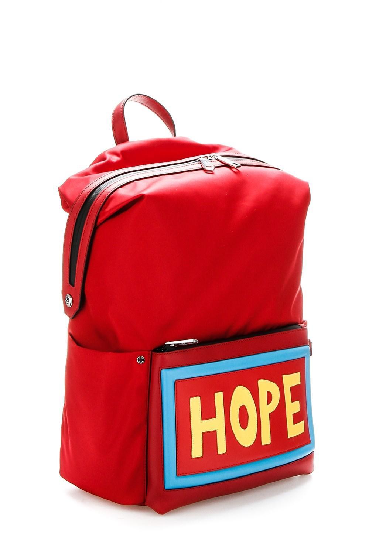 767670811c34 Lyst - Fendi Large Nylon Hope Backpack in Red for Men