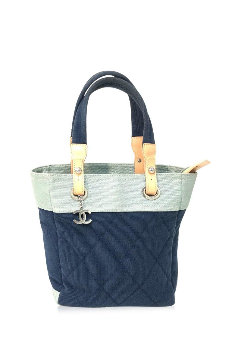621d77376855 Chanel Paris Biarritz Tote Pm Tote Bag Shoulder Bag Navy/light Blue ...