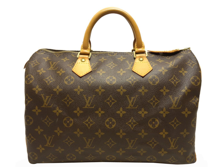 Lyst - Louis Vuitton Auth Monogram Speedy 35 Boston Hand Bag M41524 ... b2f99e80f9932