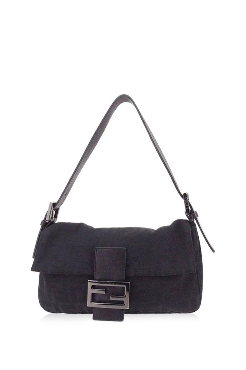 Lyst - Fendi Shoulder Bag Zucca Ladies Used E1155 in Black 56a6a4d40bbd9