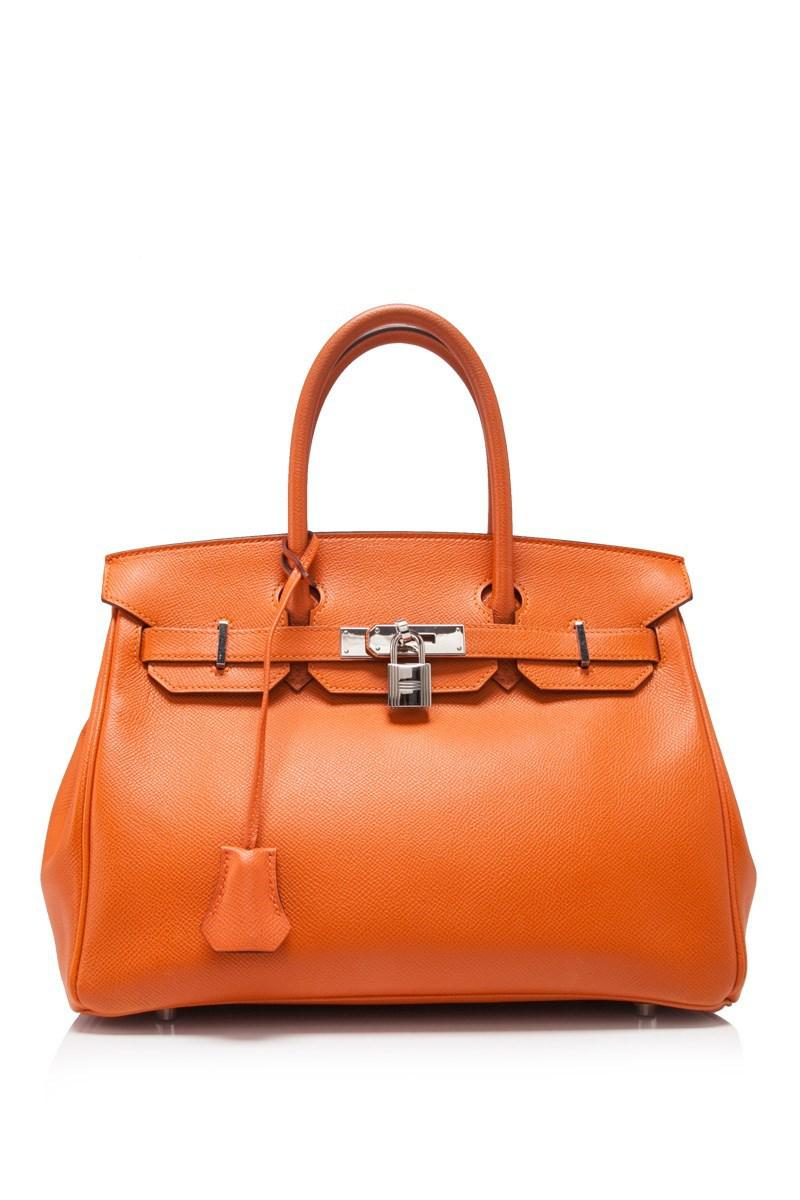 1ba26f1a6b5f Lyst - Hermès Pre-owned Hermès Orange Epsom Birkin 30 in Orange