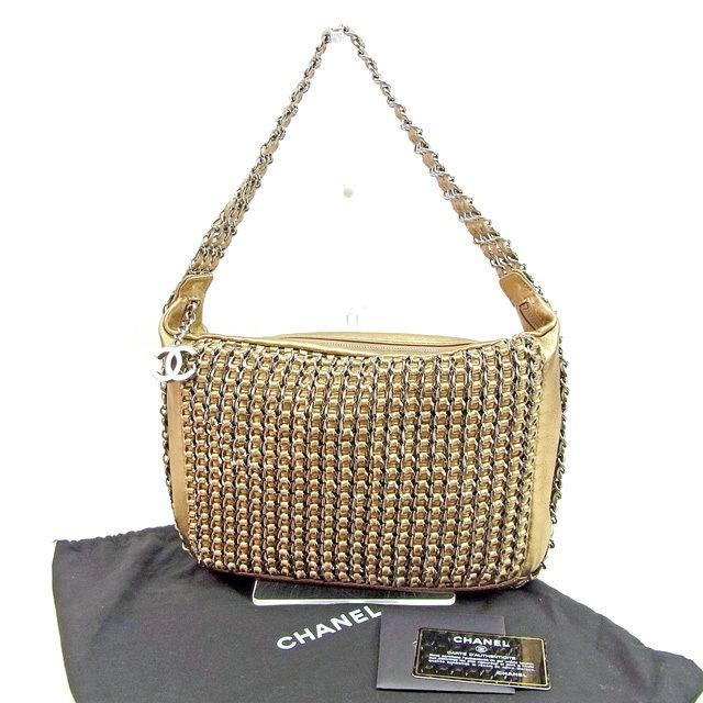 Lyst - Chanel Shoulder Bag Coco Mark Ladies Used T143 in Metallic c6703001872ca