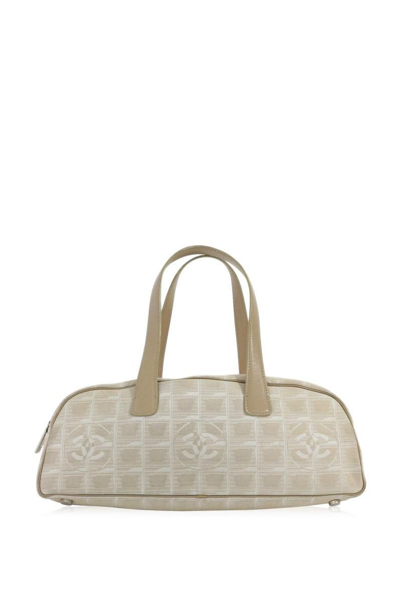 880a33d7223e Lyst - Chanel New Travel Line Boston Bag (handbag)   Beige   in Natural