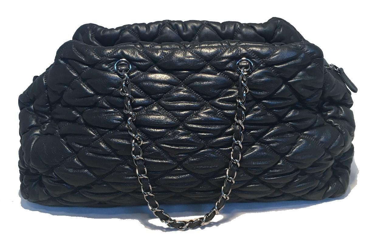 263771eafa Lyst - Chanel Quilted Puffy Leather Shoulder Bag Tote in Black
