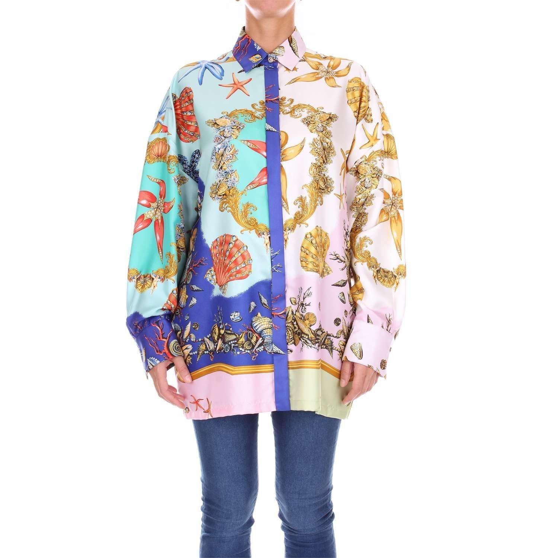 dbb8518042 Lyst - Versace Women's A79397a225657a7258 Multicolor Silk Shirt