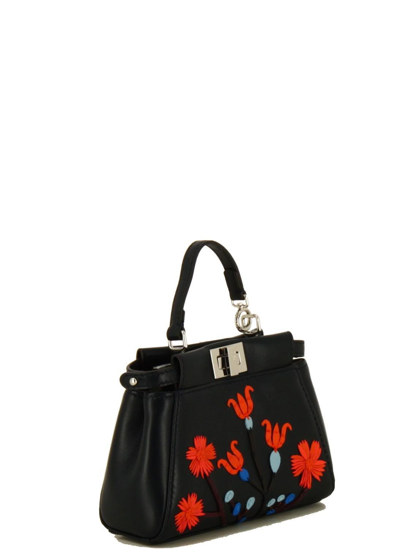 a4cc56ee6b Lyst - Fendi Women's 8m0355sgaf06qs-mcf Black Leather Handbag in Black