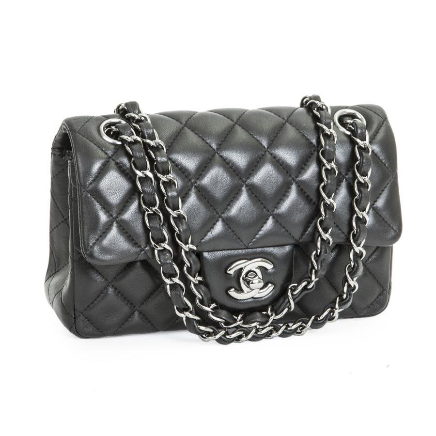 6b52b41d8860 Lyst - Chanel Mini  timeless  Flap Bag In Quilted Black Smooth Lamb ...