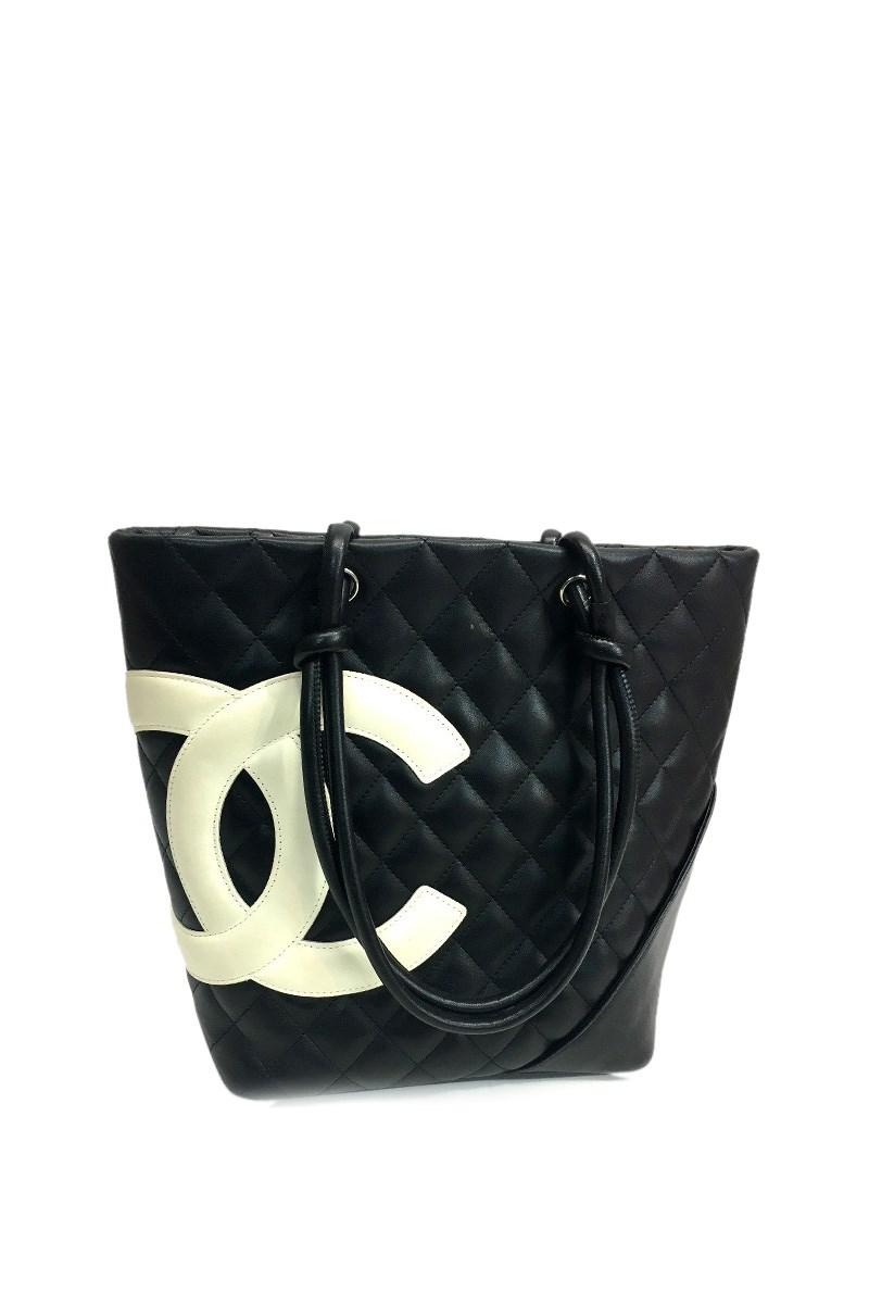 fe5e90ea9354 Chanel Cambon Line Women's Bag Medium Tote Bag Tote Bag Black/white ...