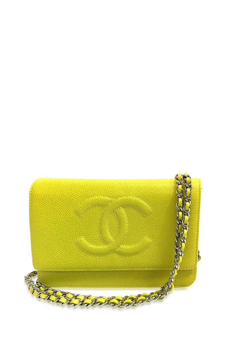 f23472934d4936 Chanel Unused Cc Cc Mark Wallet Bag Chain Wallet Shoulder Bag Yellow ...