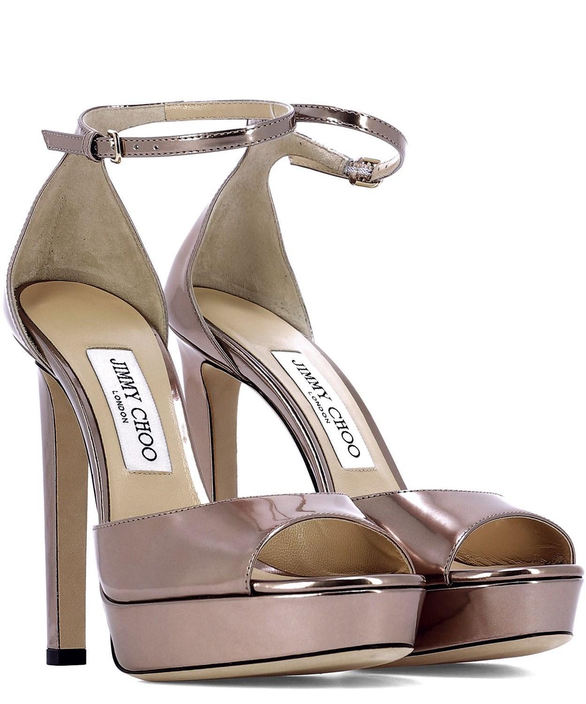 9720df63ee Lyst - Jimmy Choo Women s Pattie130lqmballetpink Pink Leather Sandals in  Pink