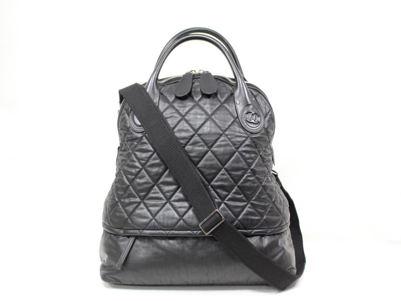 50f44e1f9ff0ba Lyst - Chanel Authentic Materasse 2way Shoulder Bag Leather Black ...