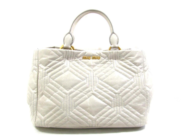 5197e9cfd756 Lyst - Miu Miu 2way Shoulder Bag Rn 0928 2a 41 F 0 424 00 Leather ...
