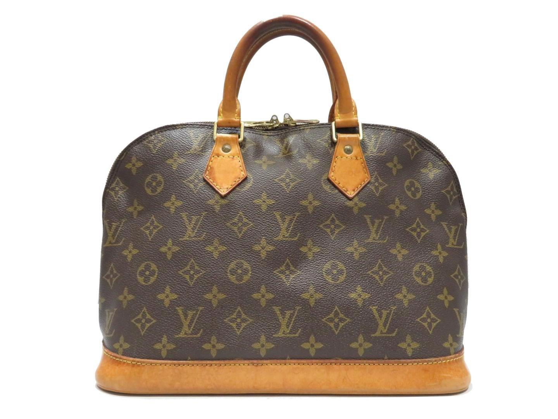 6198365b3a28 Lyst - Louis Vuitton Alma Zipped Hand Bag Monogram Canvas M51130 in ...