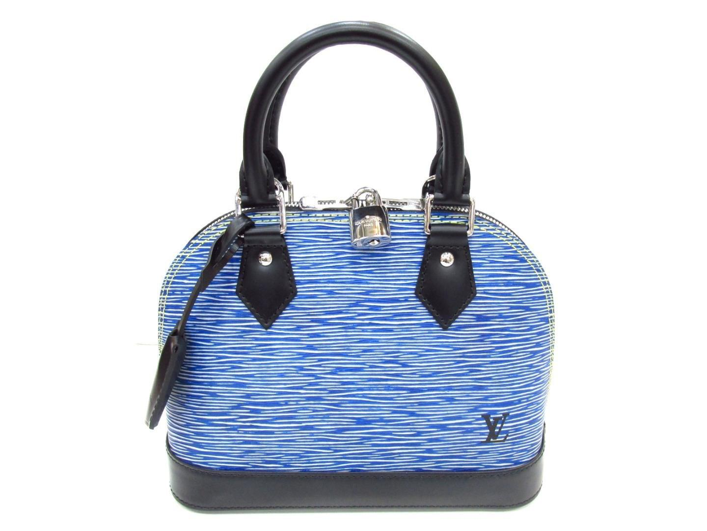 fc23d893ba26 Lyst - Louis Vuitton Alma Bb 2 Way Shoulder Bag Epi Leather Blue ...