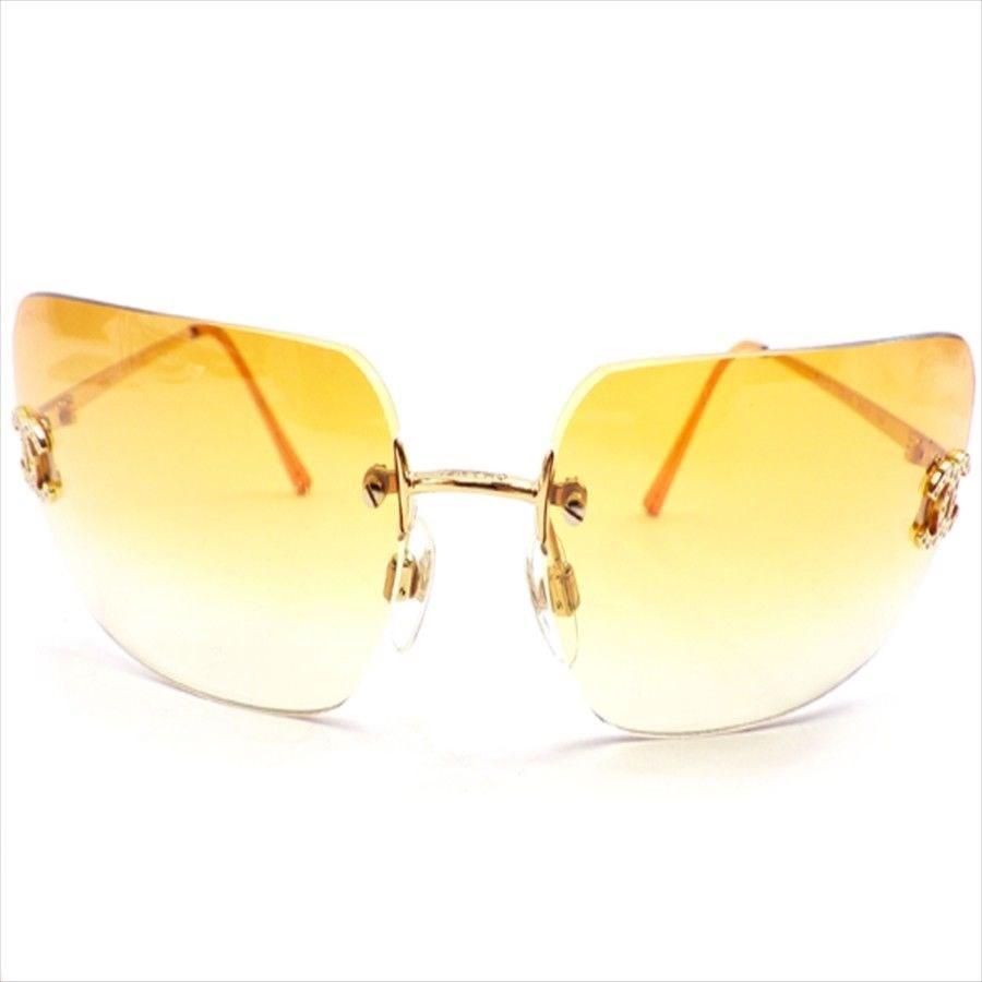 027015c28d Lyst - Chanel Sunglasses Coco Mark Ladies Used T4640 in Orange