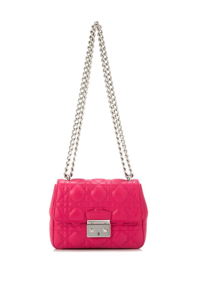 abdac7eb1a1e Lyst - Dior Pre-owned Christian Sling Bag in Pink